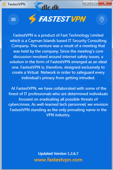 Screenshot af FastestVPN