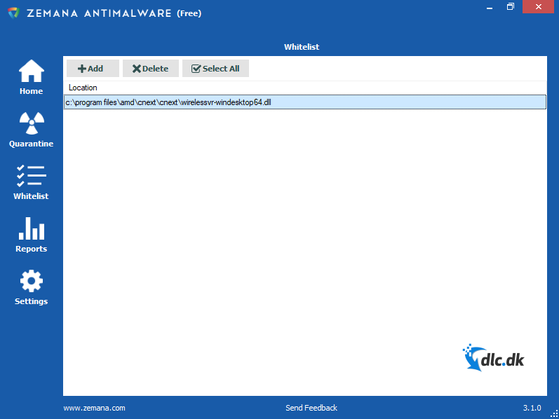 Screenshot af Zemana Antimalware