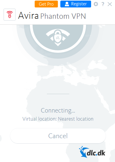 Screenshot af Avira Phantom VPN