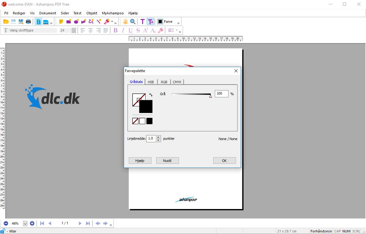Screenshot af Ashampoo PDF Free