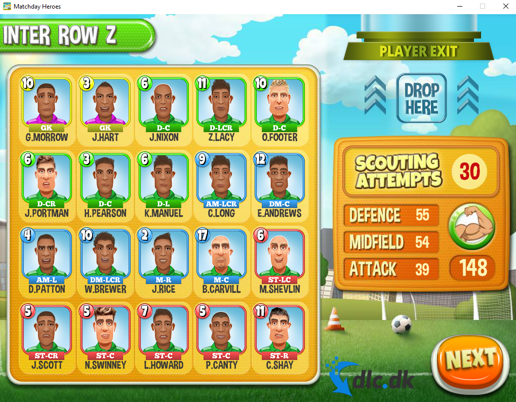 Screenshot af Matchday Heroes