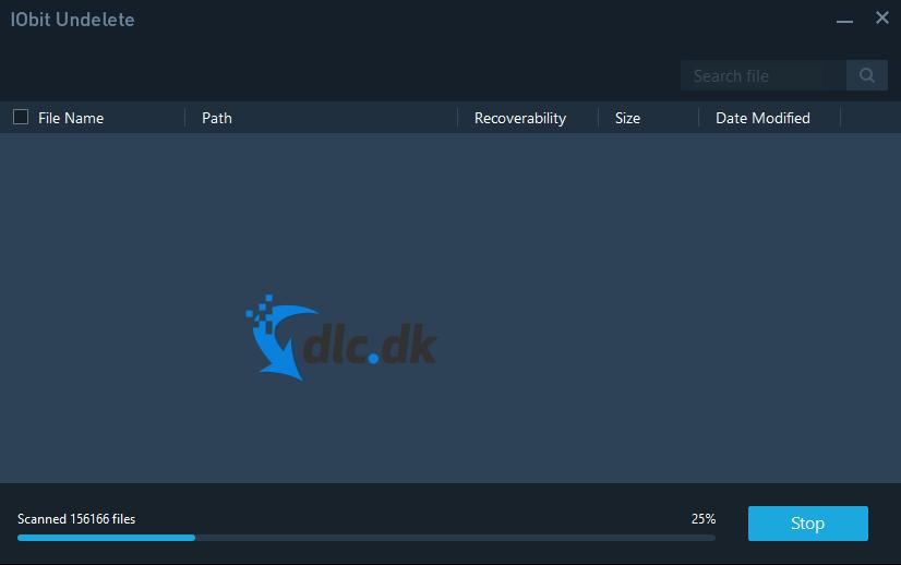 Screenshot af IObit Undelete