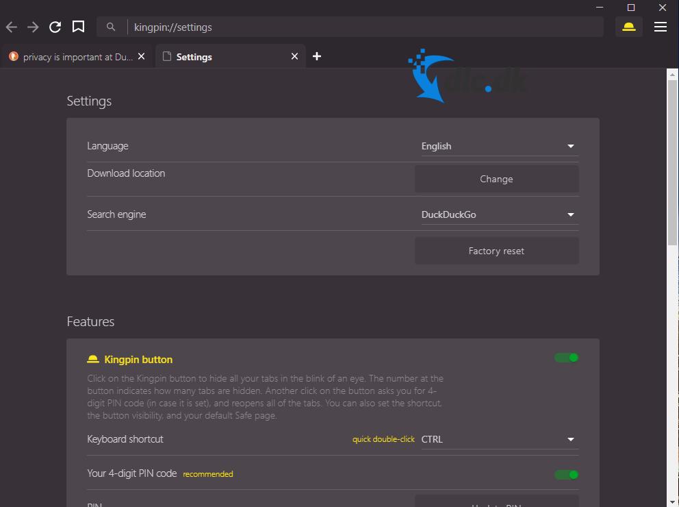 Screenshot af Kingpin Private Browser