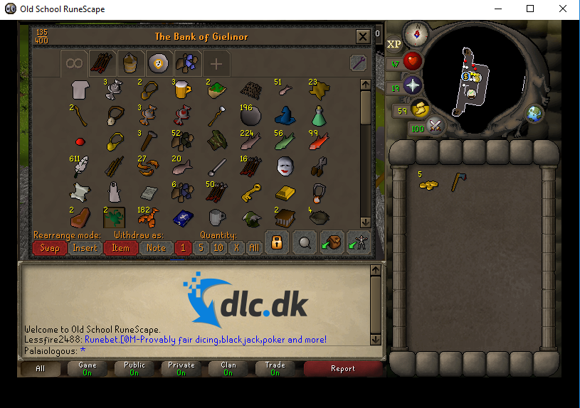 Screenshot af Old School Runescape