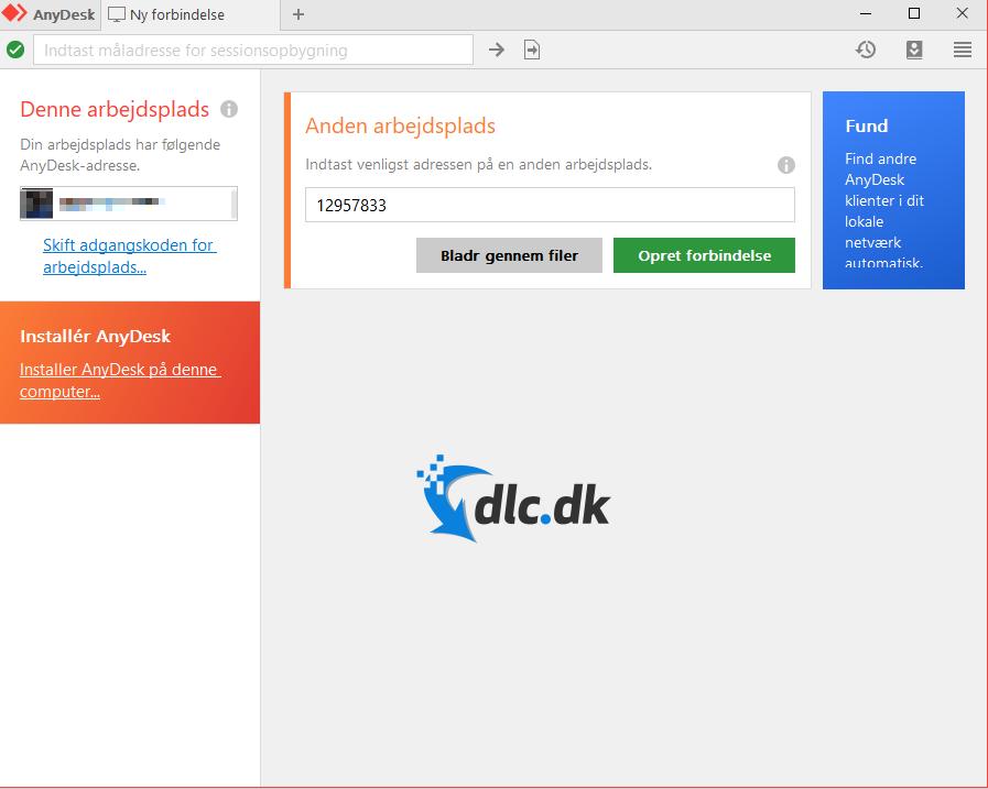 Screenshot af AnyDesk