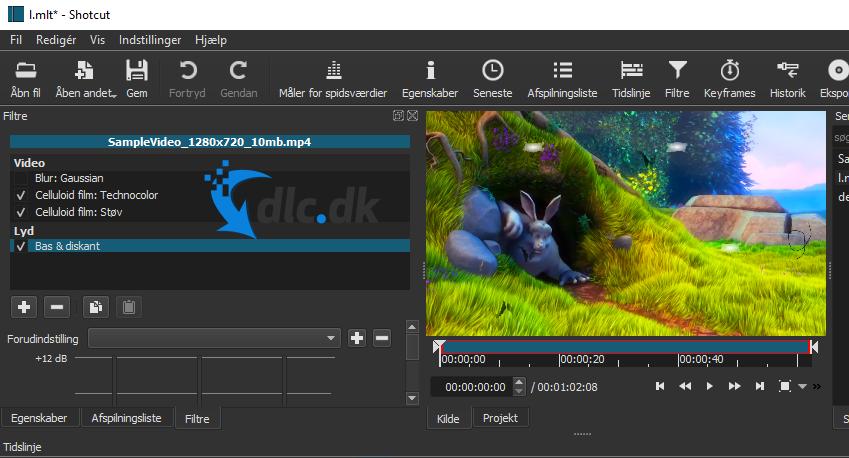 Screenshot af Shotcut