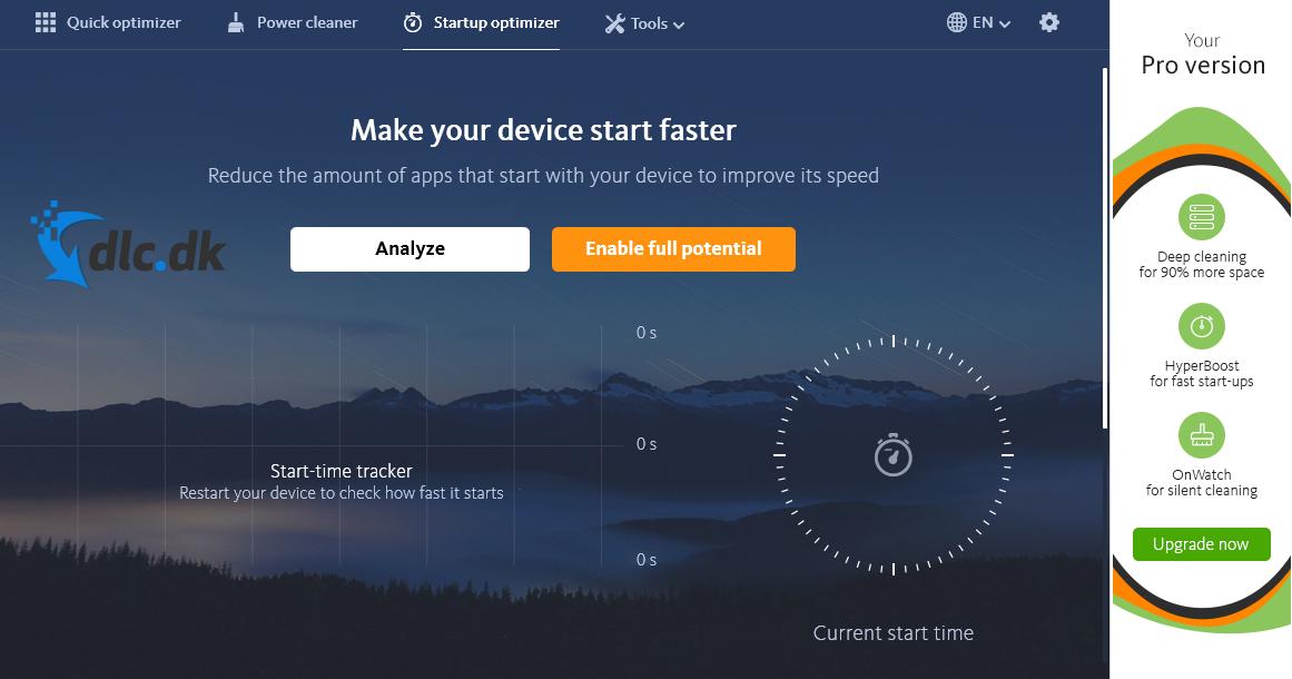 Screenshot af Avira System Speedup