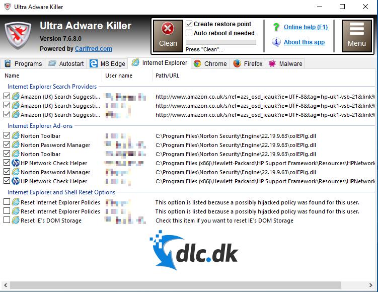 Screenshot af Ultra Adware Killer