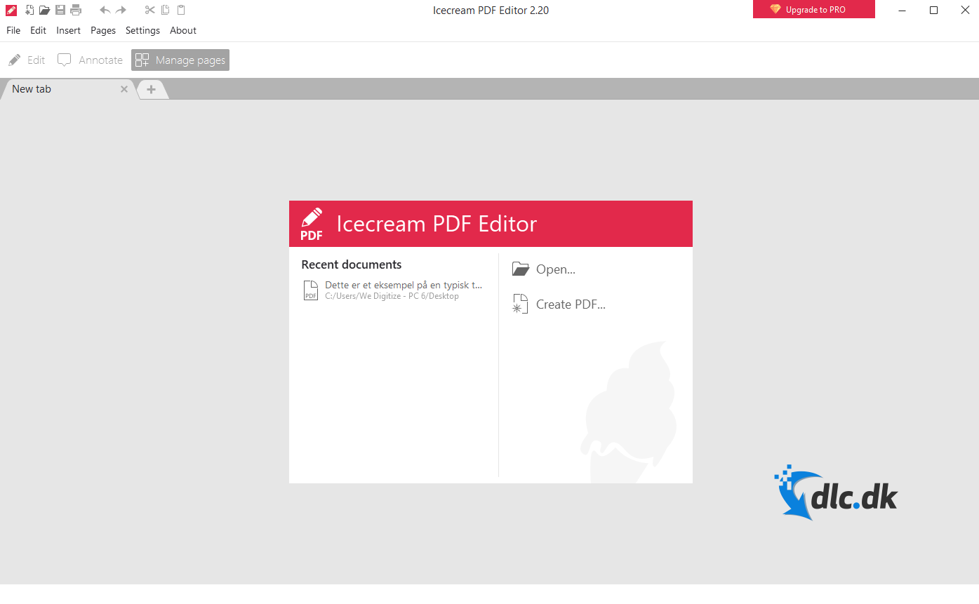 Screenshot af Icecream PDF Editor