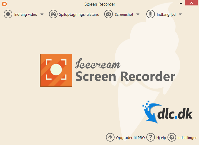 Screenshot af Icecream Screen Recorder (Dansk)