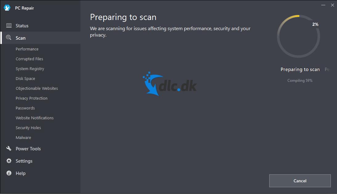 Screenshot af PC Repair