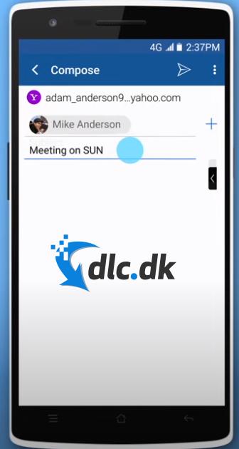 Screenshot af BlueMail