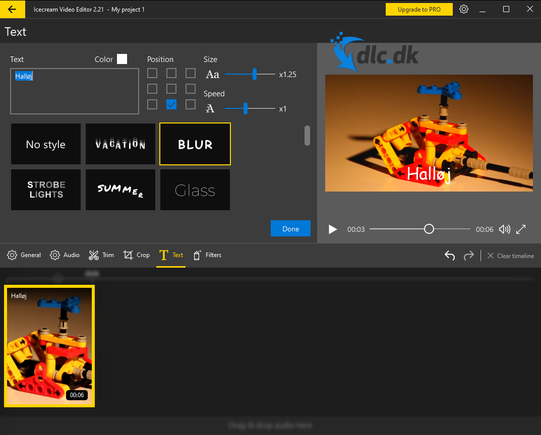 Screenshot af Icecream Video Editor