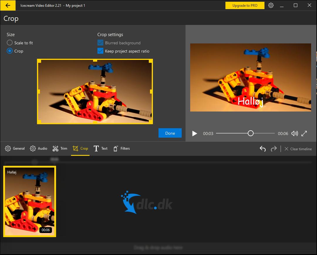 Screenshot af Icecream Video Editor
