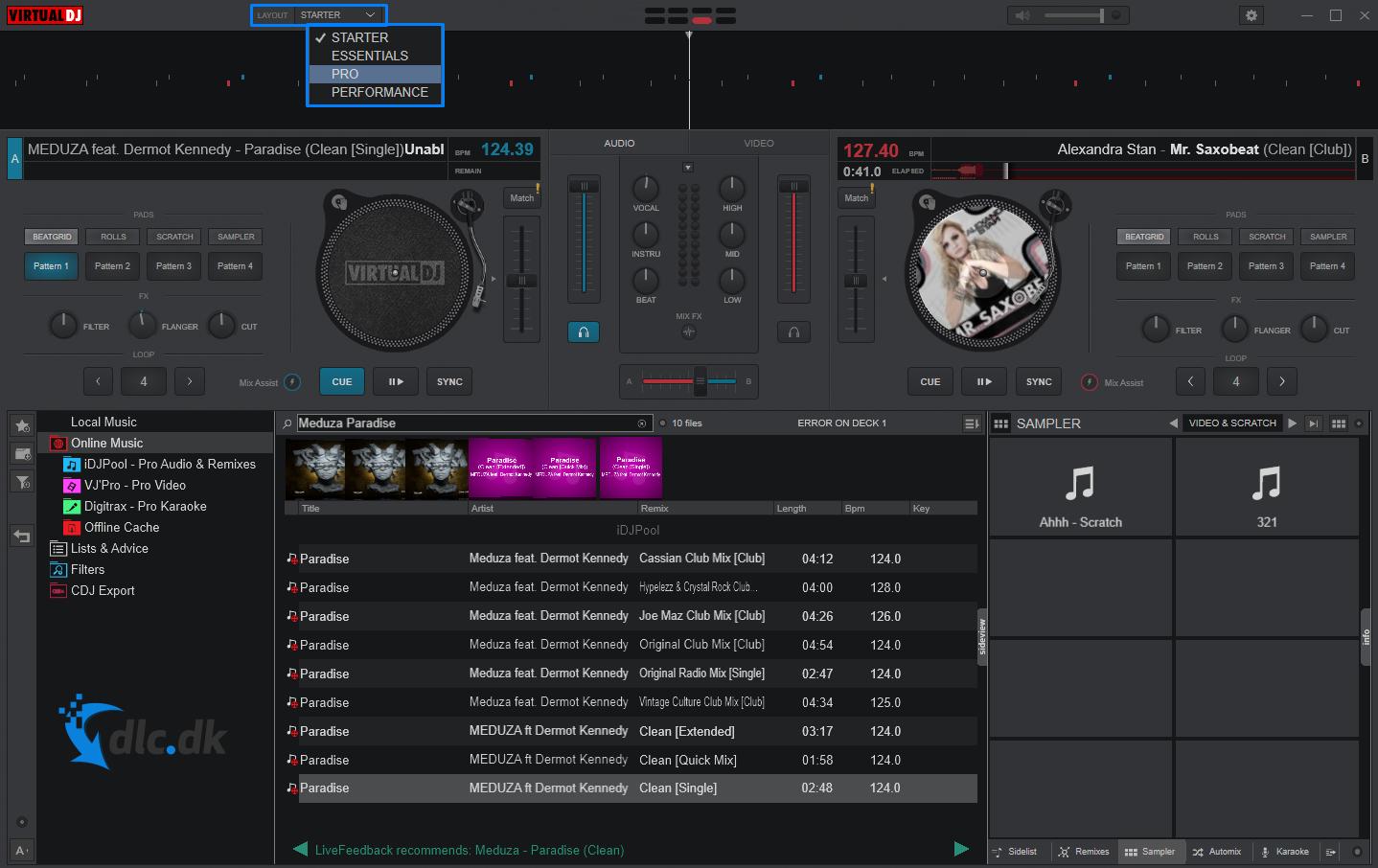 Screenshot af VirtualDJ 2021