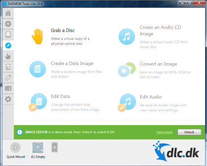 Screenshot af Daemon Tools Lite