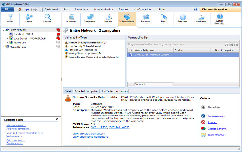 Screenshot af GFI LANguard Security Event Log Monitor