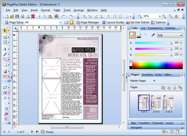 Screenshot af Pageplus SE