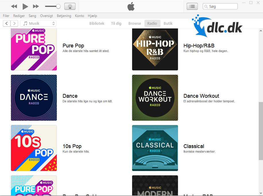 Screenshot af iTunes til Windows