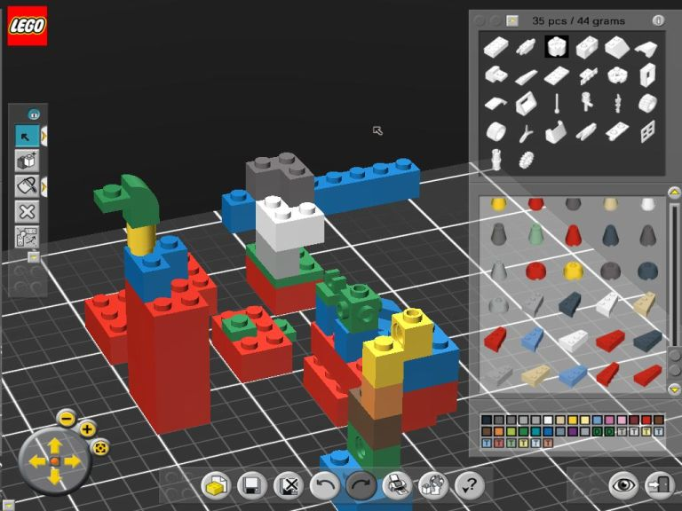Screenshot af LEGO Digital Designer