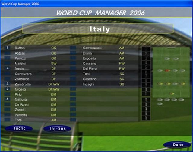 Screenshot af World Cup Manager