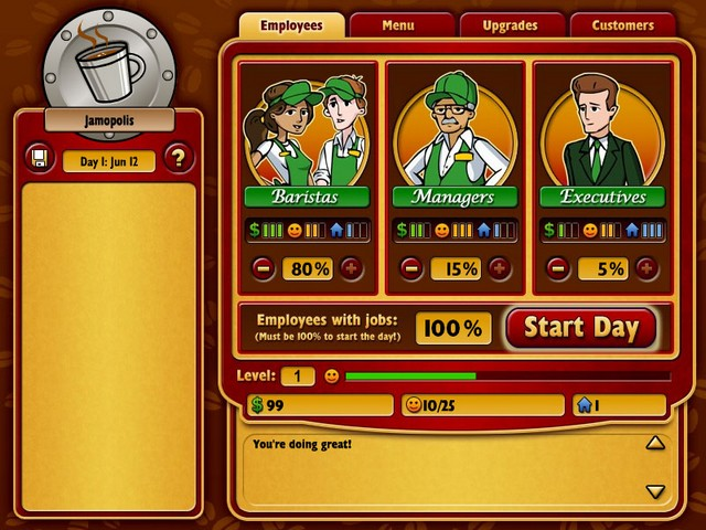 Screenshot af Coffee Tycoon