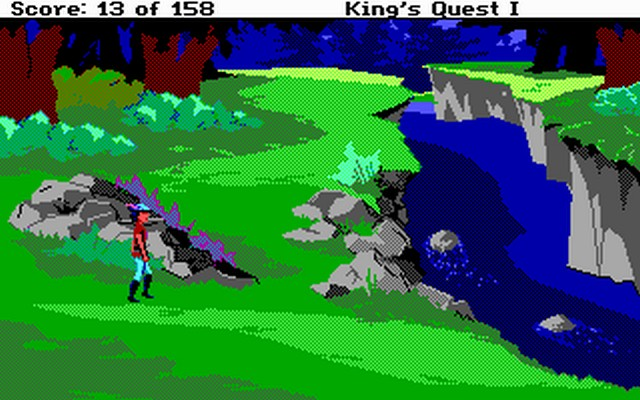 Screenshot af King\'s Quest - Quest for the Crown (EGA Version)