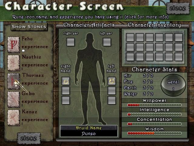 Screenshot af Magic Stones