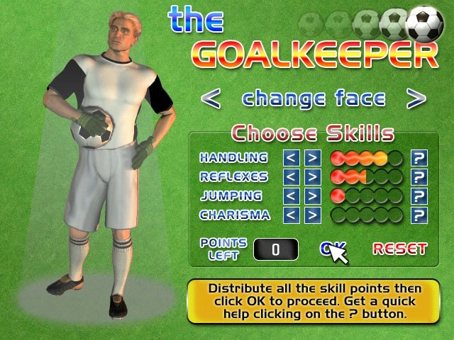 Screenshot af The Goalkeeper