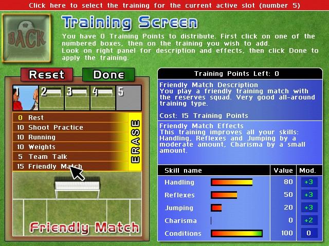 Screenshot af The Goalkeeper