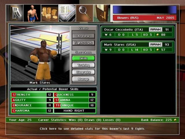 Screenshot af Universal Boxing Manager