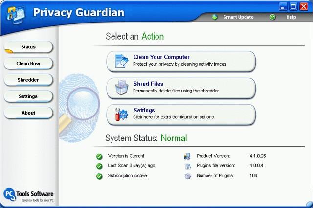 Screenshot af Privacy Guardian