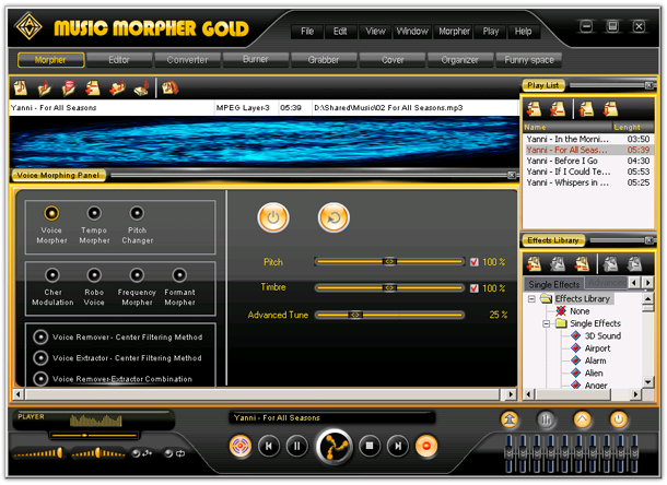 Screenshot af AV Music Morpher Gold
