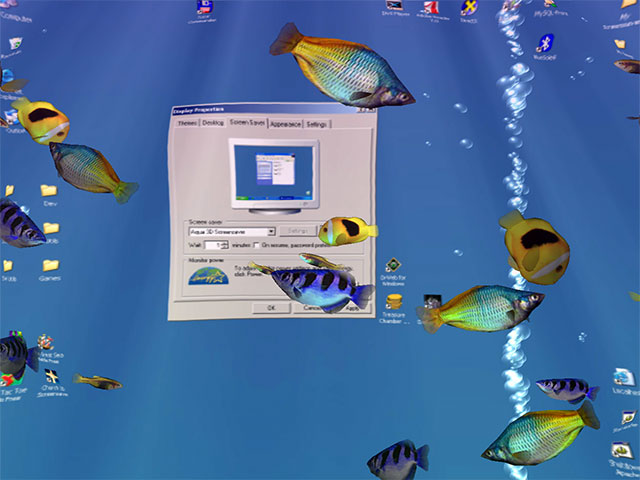 Screenshot af Aqua 3D Screensaver