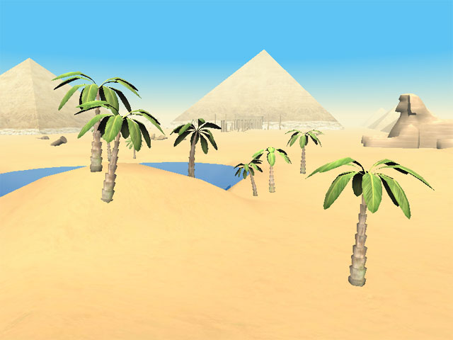 Screenshot af The Pyramids of Egypt 3D Screensaver