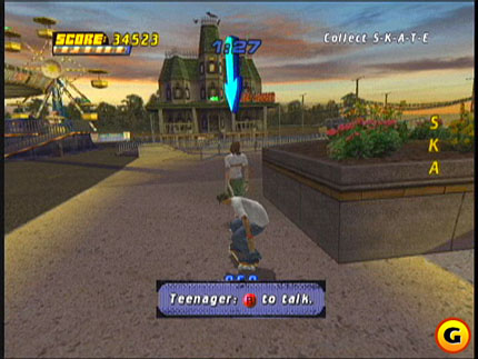 Screenshot af Tony Hawk Pro Skater 4