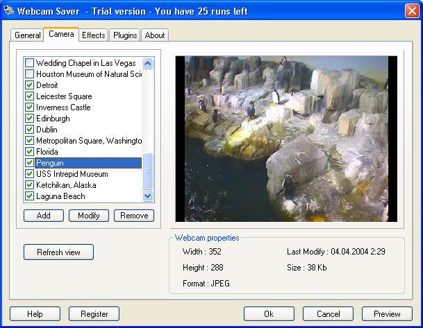 Screenshot af Webcam Saver