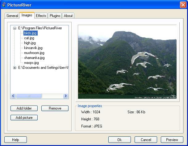 Screenshot af PictureRiver