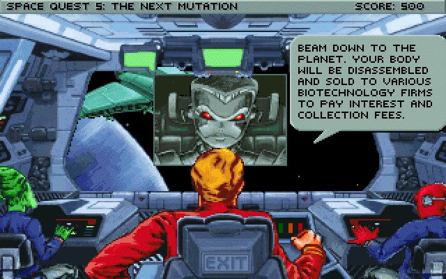 Screenshot af Space Quest 5 - The Next Mutation
