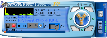 Screenshot af dvdXsoft Sound Recorder XP