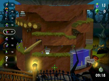Screenshot af Lemmings Revolution