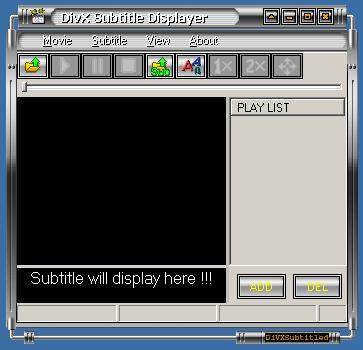 Screenshot af Divx Subtitle displayer