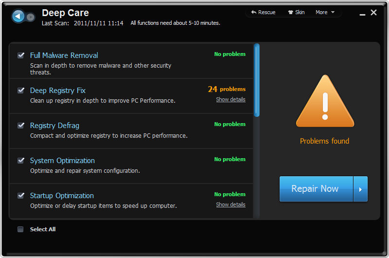 Screenshot af Advanced SystemCare PRO
