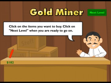 Screenshot af Gold Miner