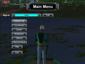 Screenshot af Pro Bass Fishing 2003