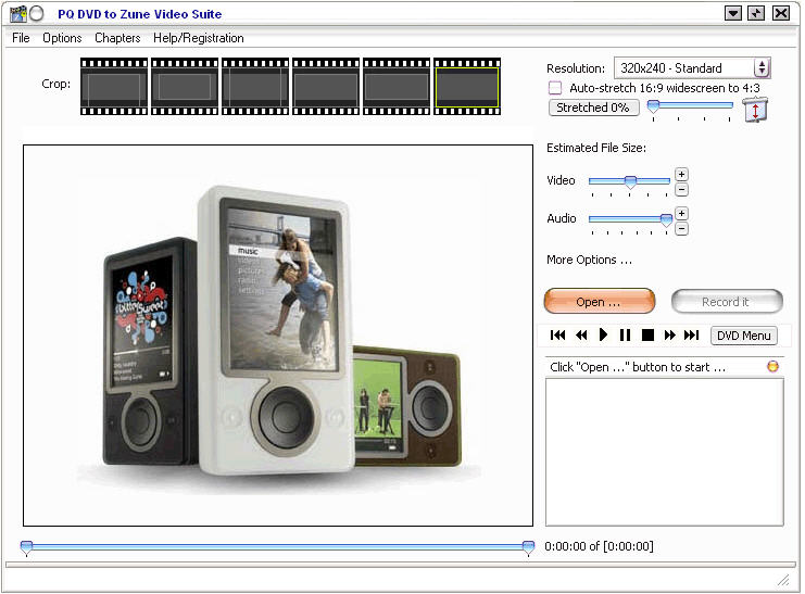 Screenshot af PQ DVD to Zune Video Suite