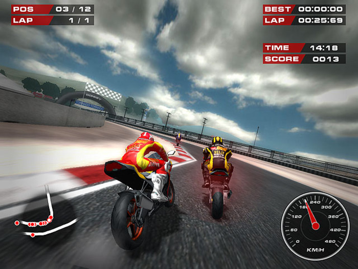 Screenshot af Superbike Racers