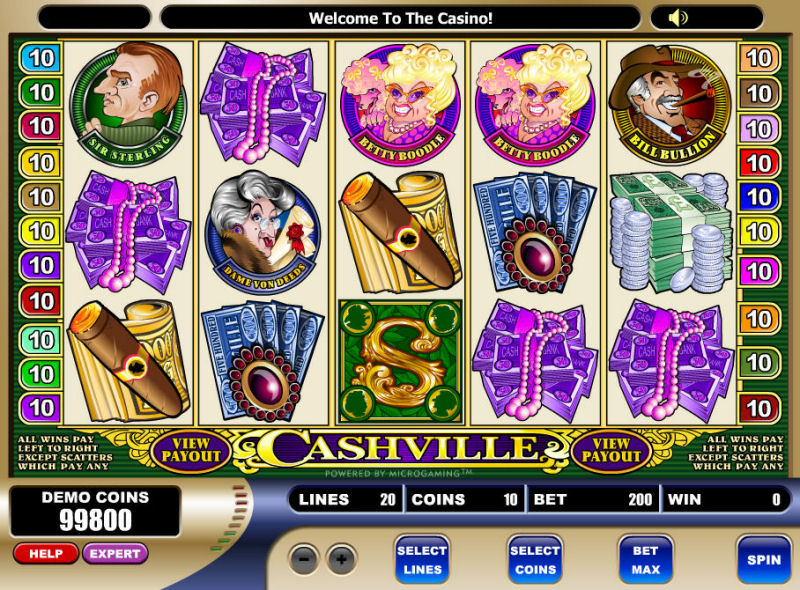 Screenshot af Cashville Video Slot