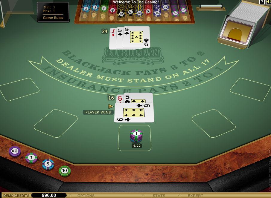 Screenshot af European BlackJack Gold