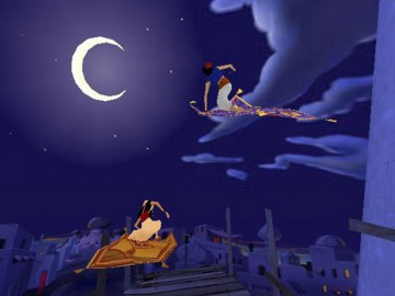 Screenshot af Aladdin Magic Carpet Racing